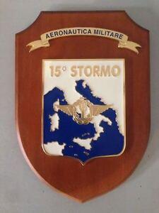 Crest-in-legno-AERONAUTICA-MILITARE-ITALIANA-034-15-STORMO-034-crest-of-wood
