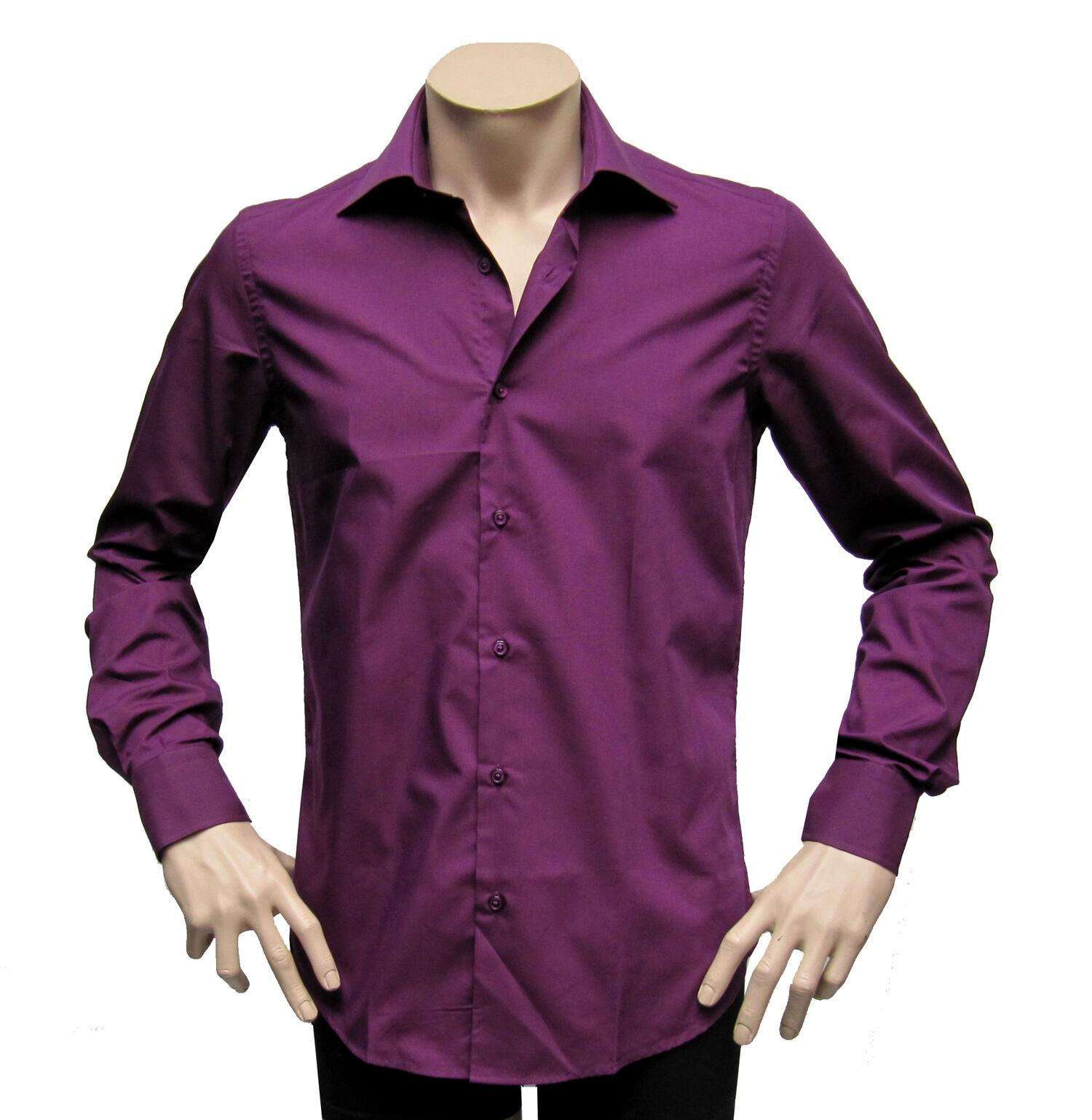Slim-fit Hemd extra lange arme Muga Gr.4XL purplet