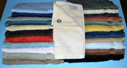 """Sferra Bello Washcloth//Face Towel Set of 3 w//Grommet Combed Cotton 12x12/"""" New"""