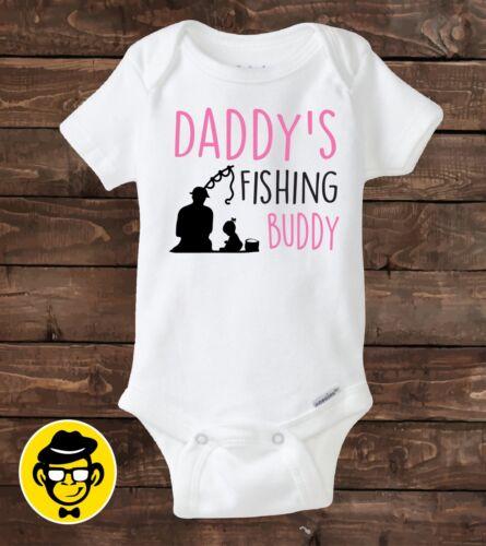 Daddy/'s Fishing Buddy Baby gift Personalized shirt Baby girl shirt