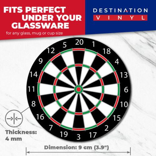 2 x sous-verres-Cool Dart Board Fléchettes Jeu Maison Cadeau #4643