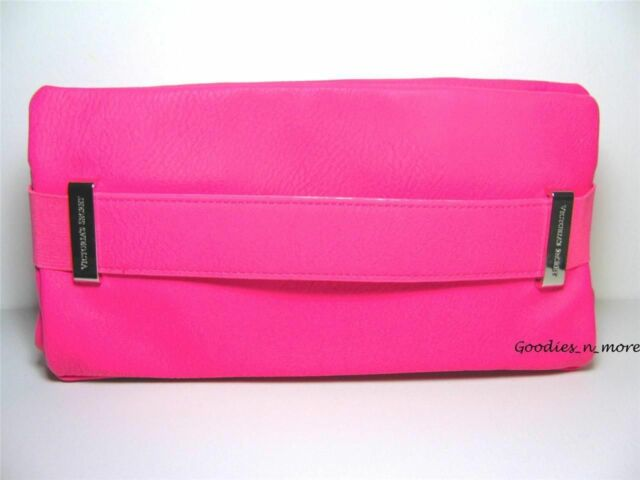 New Victoria S Secret Y Hot Pink Faux Leather Clutch Purse