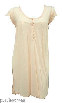 NEW BOHO SMOCK DRESS LONG A LINE FLOATY CAP SLEEVE TUNIC TOP PLUS SIZE 16 TO 24
