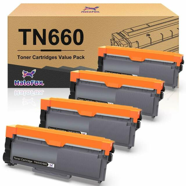 4 Brother TN660 TN630 Black Toner Cartridge High Yield HL-L2300D For DCP-L2540DW