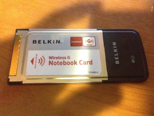 Belkin F5d7010  Wireless G 802.11g Laptop PCMCIA Notebook WIFI Network Card
