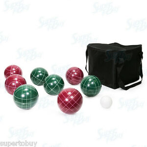 Bocce-Ball-Set-100mm-9-Piece-with-Nylon-Carrying-Case-Pallino-Jack-Ball-Game