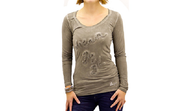 T-SHIRT     DESIGUAL   MUELLE Grey      Taille XS