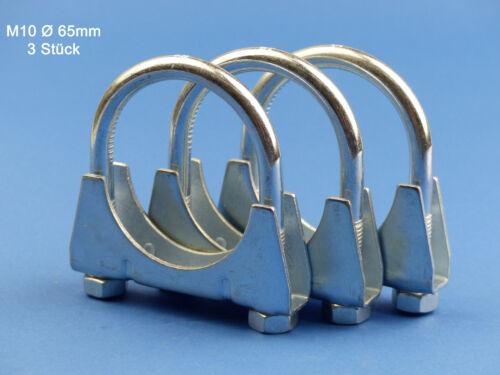 Bügelschelle M10x65 mm 3 Stück