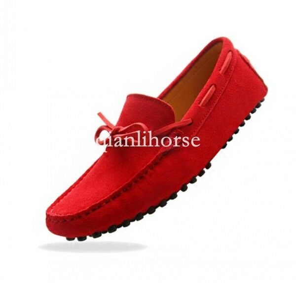 Men comfort slip on bowknot driving shoes Gommino Moccasins loafers leisure shoe