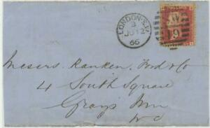 GB-1866-QV-1d-rose-red-Pl-82-with-rare-Variety-thick-double-letter-034-B-034-BI