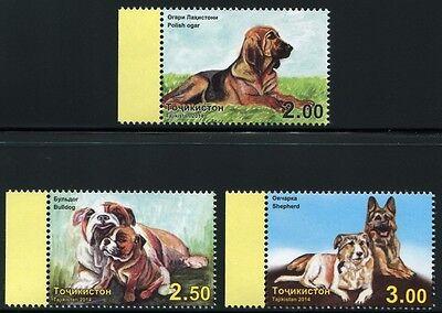 Sanft Tadschikistan Tajikistan 2014 Hunde Bulldogge Schäferhund Bracke 677-679 A Mnh
