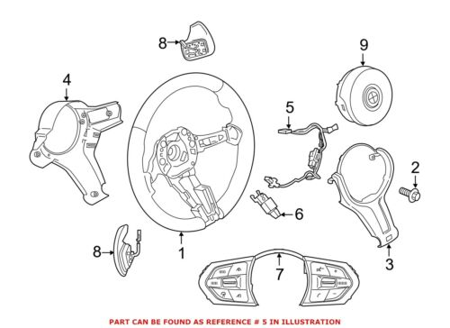 For BMW Genuine Steering Wheel Wiring Harness Front 32307848337