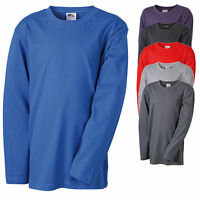James & Nicholson Kinder Langarm T-Shirt Kids Longsleeve Sweatshirt Pullover