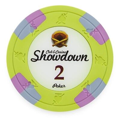 Buy 2 100 Light Green $2 Showdown 13.5g Clay Poker Chips New Get 1 Free