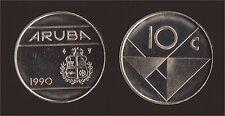 ARUBA 10 CENTS 1990 FDC/UNC FIOR DI CONIO