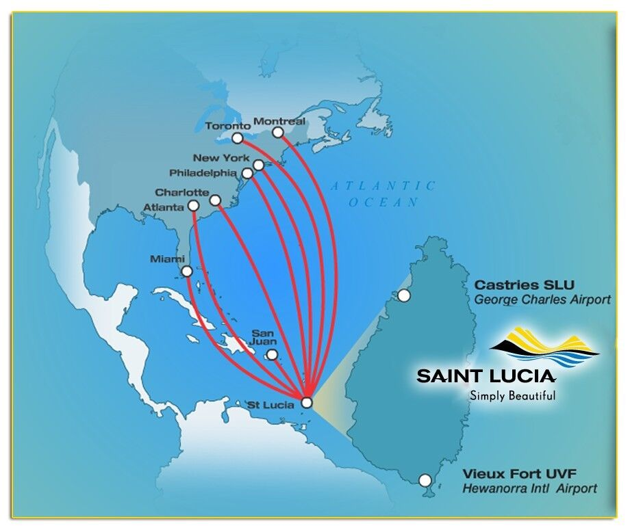 hewanorra international airport map St Lucia St James Club Morgan Bay 7 10 Nights For 6 Persons All Inclusive Ebay hewanorra international airport map