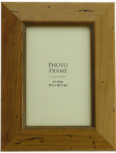 Antique Pine Solid Wood Photo Frames Wide Distressed Stained 7 Sizes