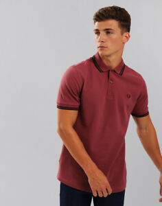 accc0248 Image is loading Fred-Perry-Twin-Tipped-Polo-Shirt-Crushed-Berry
