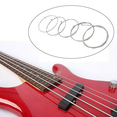 Set of 5 Steel Silver Strings for 5 String Bass Accessories Instruments Part