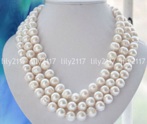 """Fashion Natural 9-10 mm White Freshwater Cultured PEARK Collier 25//36//54//72/"""" AA"""