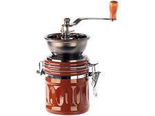 Kaffeemühle mit Metall-Mahlwerk, Kurbel und Aroma-Behälter Mühle Keramikmühle