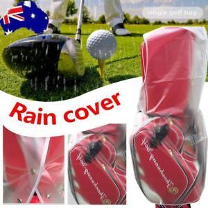 Waterproof-Dustproof-Golf-Bag-Rain-Cover-Hood-Cape-Club-Protector-Zipper-Bag-AU