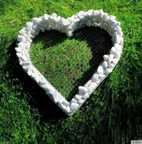 XL Coeur 58xx57x10cm tombe DECO PLANTES Coque Lanterne grabgestaltung Fleurs