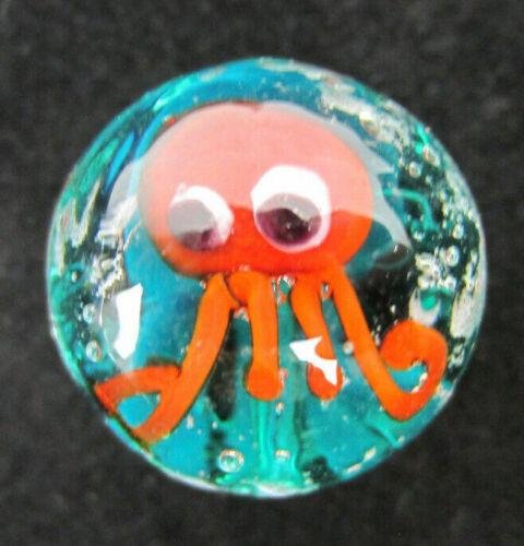 Tortoise Angle Fish 16mm Handmade art glass Octopus 4 AQUARIUS Marbles Seal