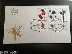 Fiable Israel - 1980, Fdc 1° Jour - Fleurs, Chardons, Flowers, Thistles