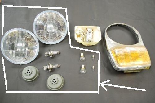 Mercedes 230SL 250SL 280SL 113 Hella H4 Headlight /& Bulb Set for AJ Light