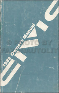 1988-Honda-Civic-Owners-Manual-Original-OEM-Sedan-and-Hatchback-Owner-Guide-Book