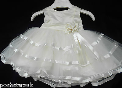 Rational Christening Flower Girls Party Wedding Bridesmaid Pageant Dress 0-24m Ivory Baby
