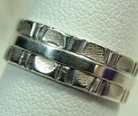 "Vintage 1/4"" wide Sterling Silver 0.925 ESTATE WEDDING BAND Ring size 6.5"