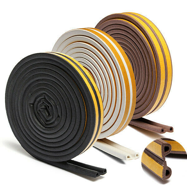 6M Rubber Sealing Strip Draught Excluder Tape Draft Insulation For Door 25mm NF