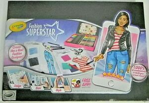 Crayola Fashion Superstar Design Clothes Pencils App Art Kit Designer Ebay