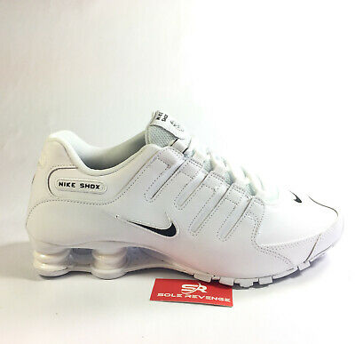New Men Nike Shox NZ EU WhiteBlack Running Shoes 501524 090 Trainers Bounce | eBay