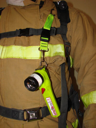 Neon Yellow Firefighter Neverlost Flashlight Keeper Sav-A-Jake