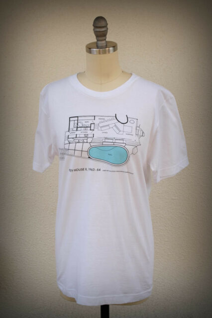 NWD TRINA TURK T-Shirt Mid Century Modern Albert Frey Palm Springs Cut Wide S/M