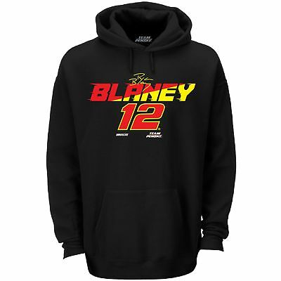 2018 RYAN BLANEY #12 ULTIMATE BLACK NASCAR HOODED SWEATSHIRT NEW W//TAG Large