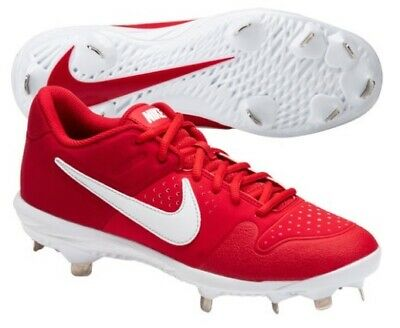 New Nike Men's Alpha Huarache Varsity Low Metal Baseball Cleats Red 10.5  $70 | eBay