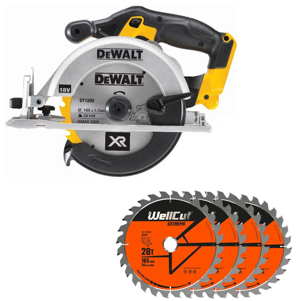 DeWalt DCS391N 18V XR li-ion Circular Saw 165mm With 4 Extra 28 Teeth Wood Blade