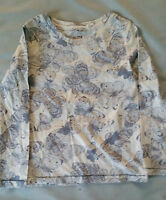 Next Girls Cream Grey Butterfly long sleeved top Ages 3 4 BRAND NEW LAST FEW!