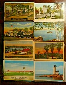 LOT-OF-25-VINTAGE-POSTCARDS-1900s-and-up-USA-amp-FOREIGN-POSTCROSSING
