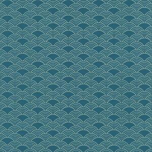 Details zu Modern Art Deco Wellen Tapete Geometrisch Glitzer -  Türkis/Silber 621020 Rasch