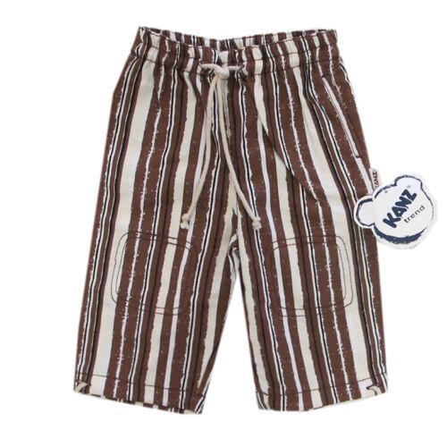 Libel Pantalon Schlupfhose sommerhose rayé beige marron garçon bébé taille 68