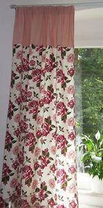 1 x vorhang dekoschal vintage vorh nge gardinen shabby landhaus wei rosa schal ebay. Black Bedroom Furniture Sets. Home Design Ideas