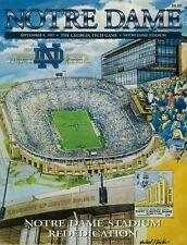 Lot of 5 - 1990's Notre Dame Football Programs - Great Condition
