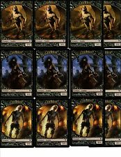 4X Each 2/2 Black Zombie TOKEN (7,8,9/12)  NM Innistrad MTG (12 Total) Lot Set