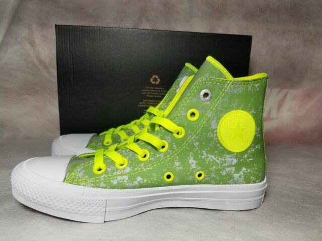 New Converse Chuck Taylor All Star II 2 Women Size 6 Reflective Green Wash  Shoe 92509f750