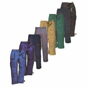 Texo-tx11-trabajo-Pantalones-Pantalones-Rodillera-bolsillos-media-cintura-elastica-Workwear-s-4xl
